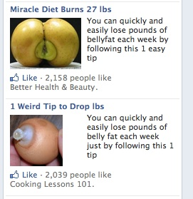 disturbing facebook ads